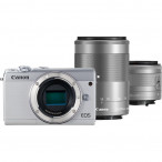 Aparat Canon EOS M100 + EF-M 15-45mm IS STM + EF-M 55-200mm IS STM biały - Cashback 130zł do 31.07.2019