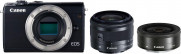 Aparat Canon EOS M100 + EF-M 15-45mm IS STM + EF-M 22mm f/2 STM czarny - Cashback 130zł do 31.07.2019