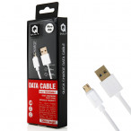 Kabel USB QUICK CHARGE 2.0 microUSB 1.2m biały